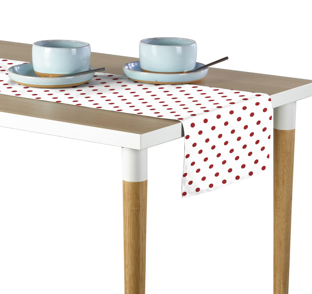 Red Nautical Dots Table Runner 12