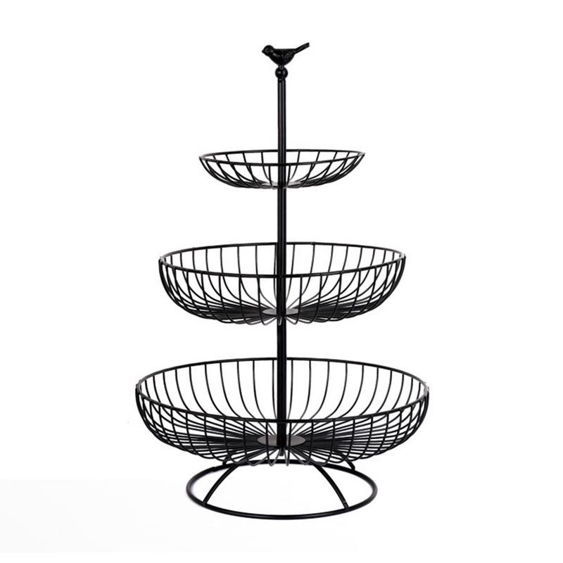 3 Tier Metal Storage Basket