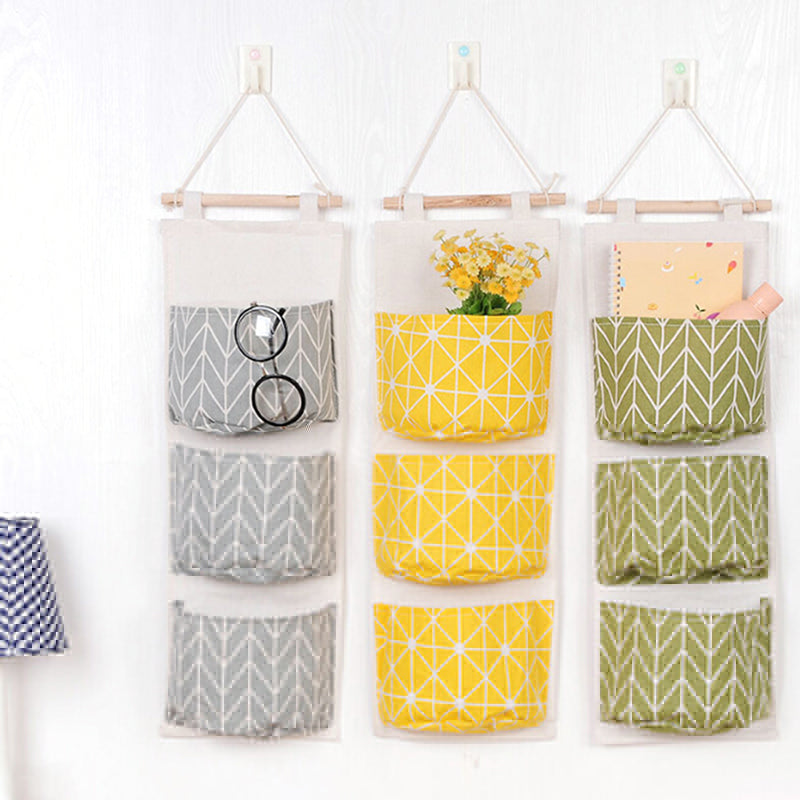 3 Pocket Wall/Door Hanging Bag Organizer