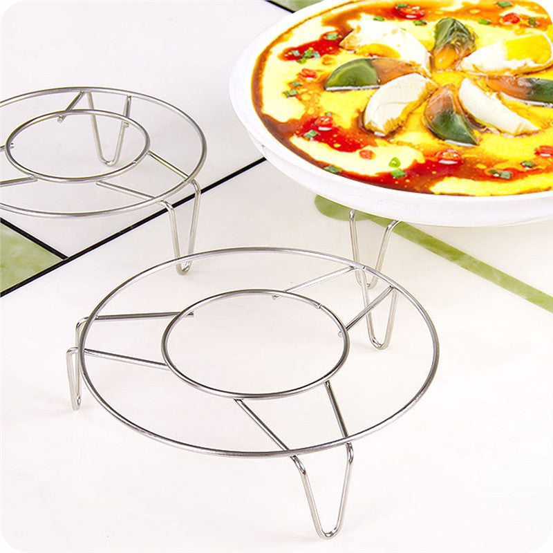 Home Kitchen Cooking Stainless Steel Round Cooker Steamer Rack Stand