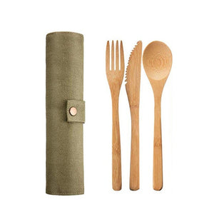 Reusable Portable Bamboo Cutlery Set