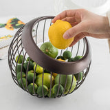 Iron Fruit Basket Kitchen Accessory