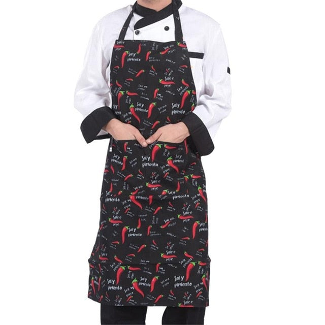 Adjustable Polyester Chef Apron with Pocket