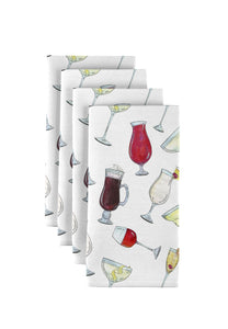 "Happy Hour Napkins 18""x18"" 1 dozen"