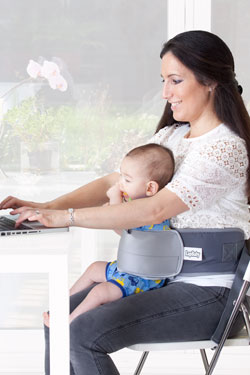 LapBaby hands-free seating aid, work on computer