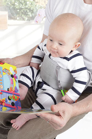 LapBaby hands-free seating aid enables you to read with both hands