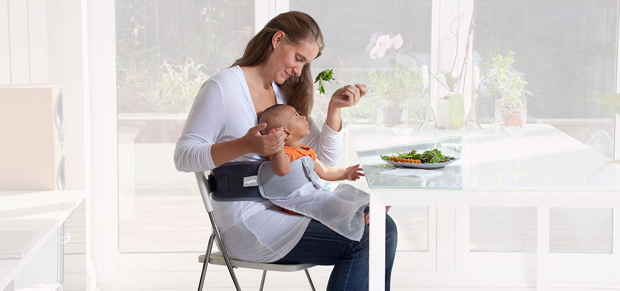 LapBaby makes eating meals easier.