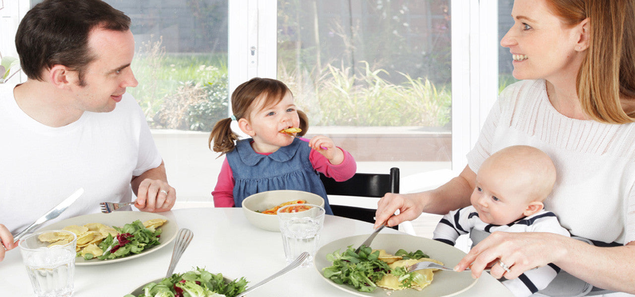 LapBaby makes family meal time more enjoyable.