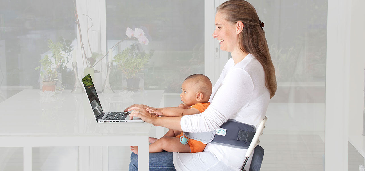 LapBaby makes it easier to work with your baby.