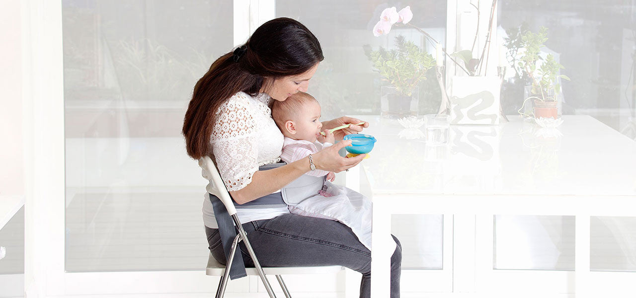 LapBaby allow you to wean your baby whilst on your lap.