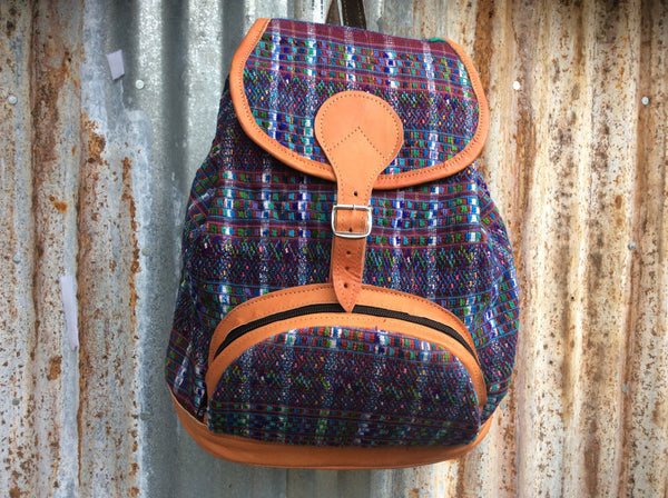Boho, handwoven backpack. Adorable and durable.