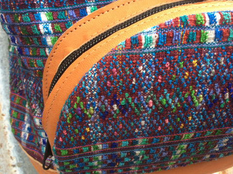 Boho, handwoven backpack