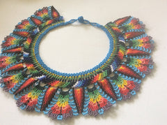 Gorgeous color combination. Collar style , intricate beading.