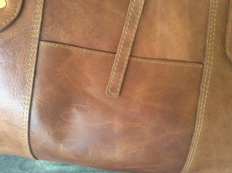 hand oil rubbed leather purse