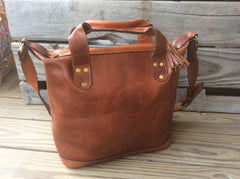 Handmade top grain leather tote/purse