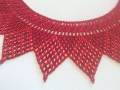 Red collar style beaded necklace
