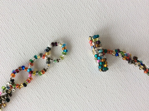 Confetti hand beaded necklace