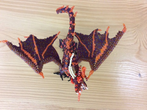 Hand beaded dragon
