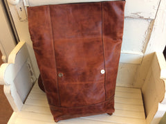 hand made top grain leather backpack