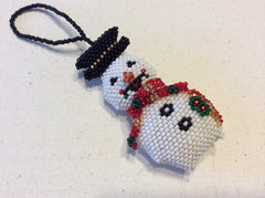 Hand beaded Christmas tree ornaments