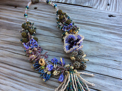 Elegant colors, and attention to detail make this an amazing necklace.