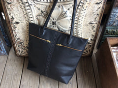 Beautiful top grain leather tote bag/purse.