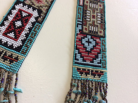 Beautiful, hand beaded, one of a kind, southwestern, tribal design