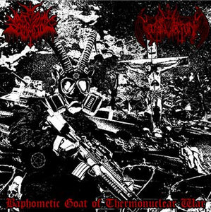 "Nocturnal Damnation / Nihil Domination - Baphometic Goat of Thermonuclear War 7"" - Broken Limbs Recordings"