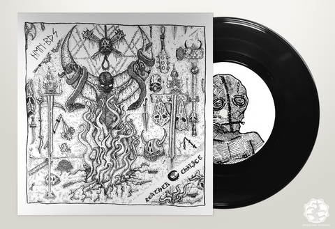 "BLR056: Human Bodies / Leather Chalice - Split 7"" - Broken Limbs Recordings"
