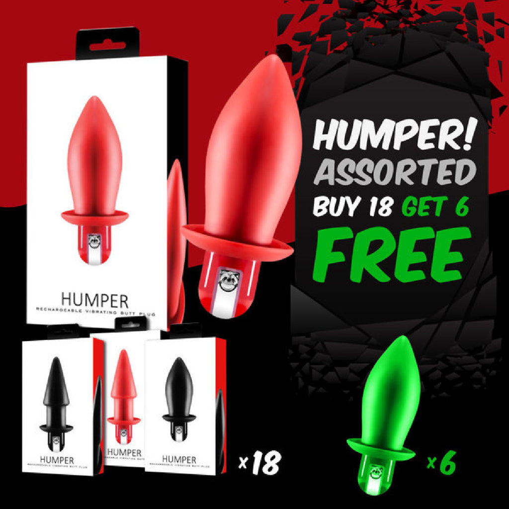 Humper Rechargeable Vibrating Butt Plug (Buy 18 Asst Get 6 Free)