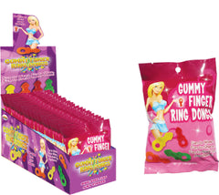 Gummy Finger Ring Dongs (12 X 8 Piece Display)