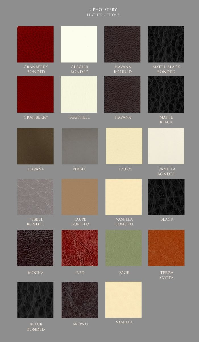 MUSH leather swatches
