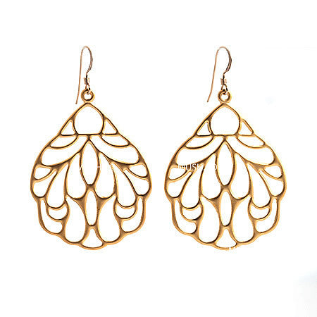 14k Gold Filled Sterling Silver Latticework Earrings