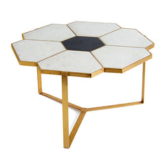 Palladian Coffee Table in Marble, Granite & Polished Brass