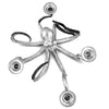Four Taper Table Octopus Candelabra in Sterling Silver Pewter