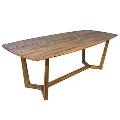 Large Solid Teak Wood Dining Table for Home or Office