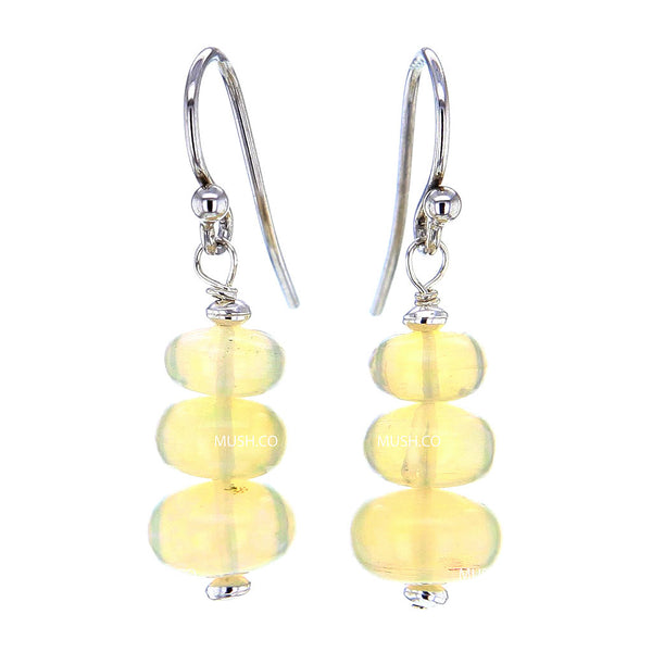 Bead Stack AAA Ethiopian Opal Earrings