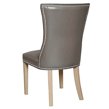 Plano Leather Dining Room Chair in Pebble
