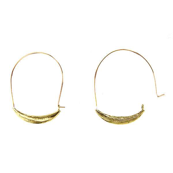 Hipster Hoops Hammered 14K Gold Fill and Textured Brass
