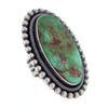 Massive Navajo Sterling Silver Ring with Royston Turquoise by E R B size 9