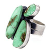 3 Stone Cluster Navajo Sterling Silver Ring with Royston Turquoise by R R B size 5.5