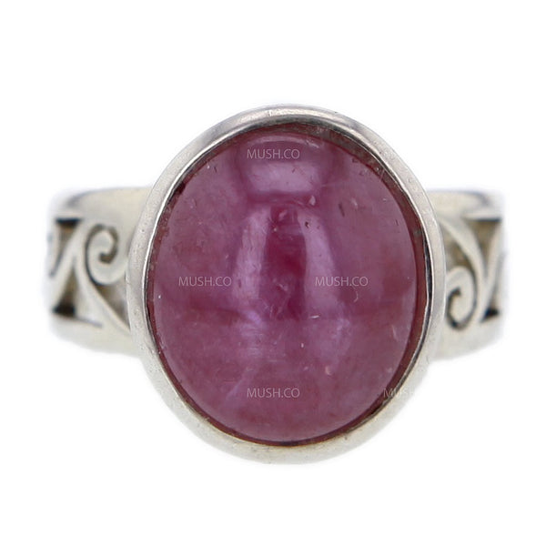 Star Ruby Cabuchon Sterling Silver Ring Size 8