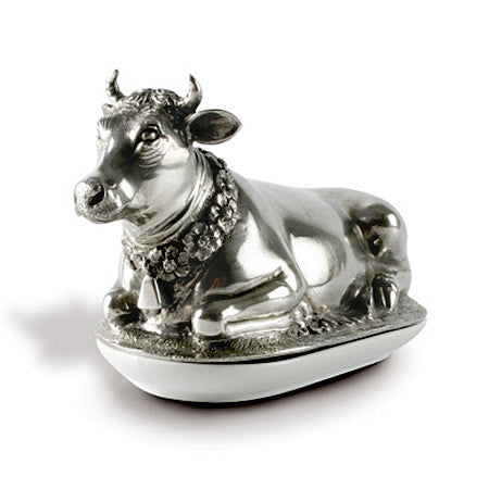 Holy Cow Butter Dish made from Sterling Silver Pewter