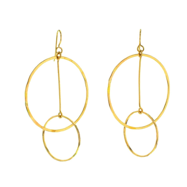 Funky Interlocking Hoops Earrings in 14K Gold Fill