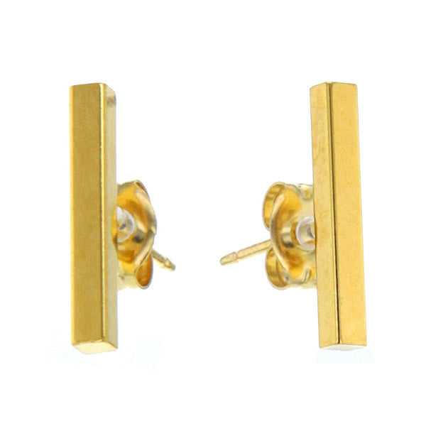 24K Gold & Brass Bar Studs Hollywood
