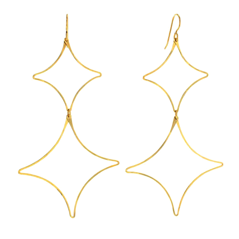 Simone Large Lightwaight Statement Earrings in 14 K Golld Fill