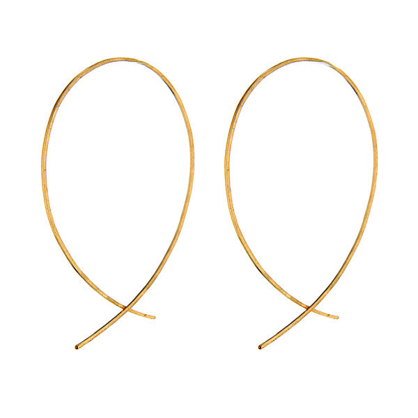 14K Gold Filled Sterling Silver Open Infinity Hoops Hollywood