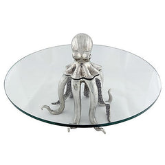 Small Octopus Dessert Stand in Sterling Silver Pewter