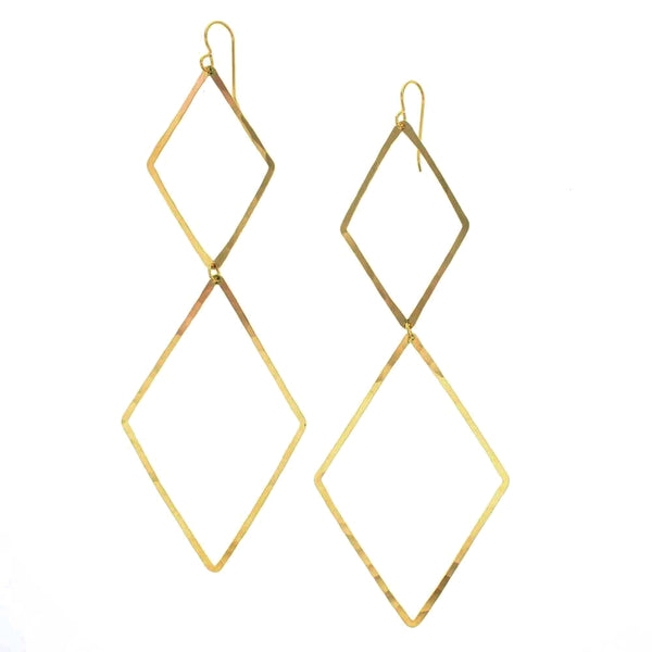 Kora Large Lightweight Statement Earerings in 14 K Gold Fill