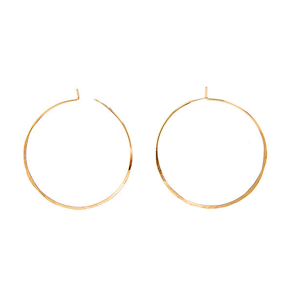 Sol Hoops Hand Hammered in CA from Rose Gold Fill